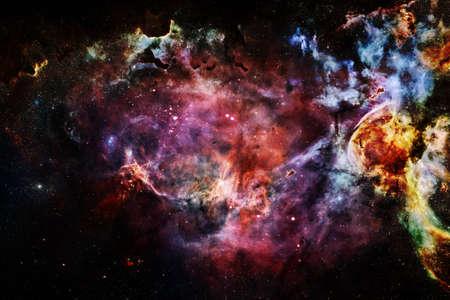 Cluster of stars. Nebula.