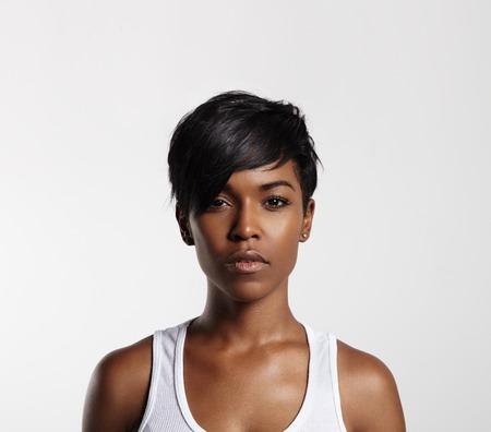 理想的な肌をもつ黒人女性 写真素材