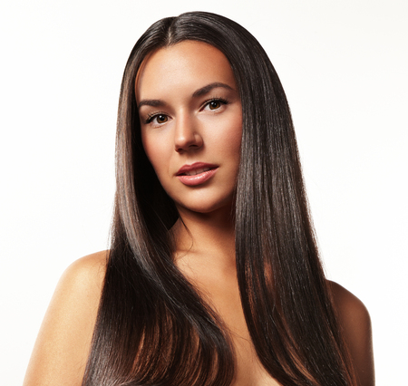 portrait of a beauty woman with a long hair Stockfoto