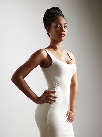 perfekte Passform schwarze Frau