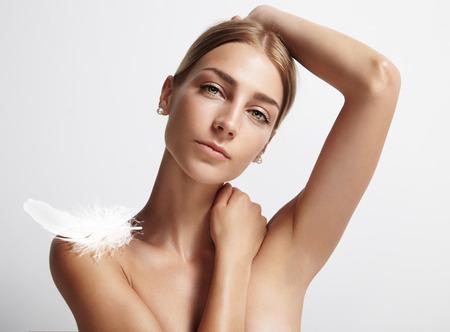 concept of an armpits care Stock Photo