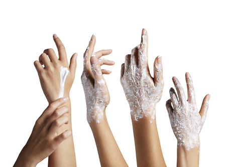 hand set with a cream photo
