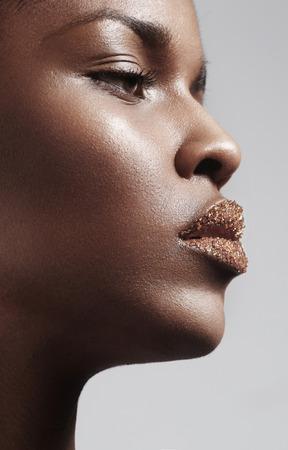 Black woman with a sugar lips