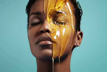 exfoliate: Honey treatment. Face treatment
