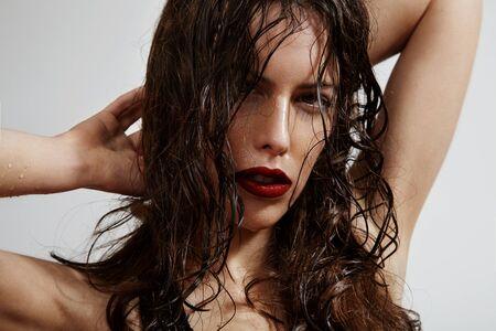 spanish woman: beauty Spanish woman with wet hair