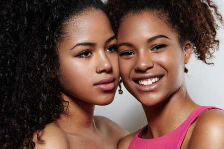 two young black womans portrait