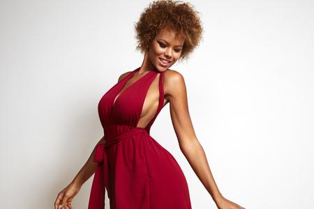 dancing black woman Stockfoto