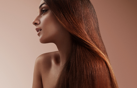 beauty woman with a healthy straight hair