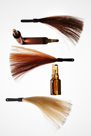 tratamiento capilar: hair treatment and color composition