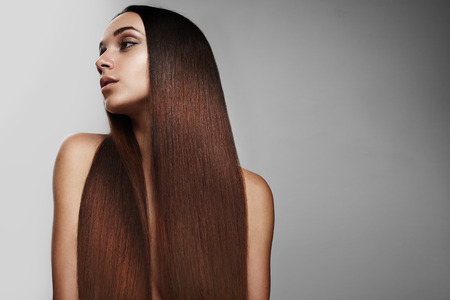 black hair: woman with redhead ideal straight hair
