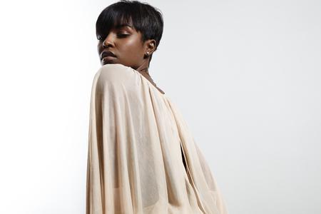 femenine: black womans portrait LANG_EVOIMAGES