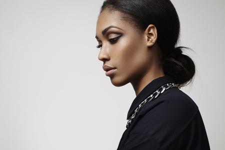 negras africanas: retrato profilt belleza de la mujer latina