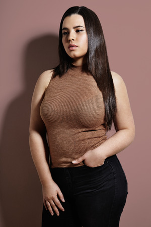 pretty plus size woman