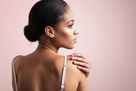 afro american nude: beauty black woman from the back