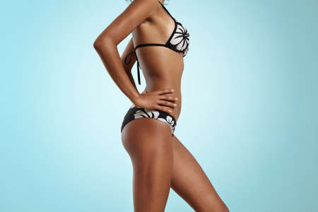 bodypart: bodypart of perfectfit woman wears bikini