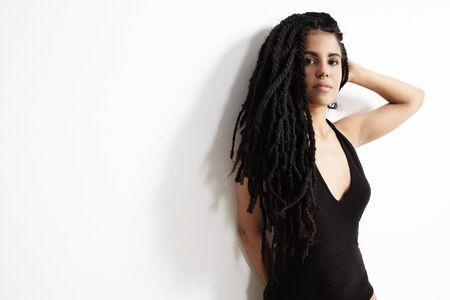 dreadlock: dreadlooks spanish young woman in studio shoot