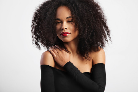 afro curly hair: black woman with big afro curly hair