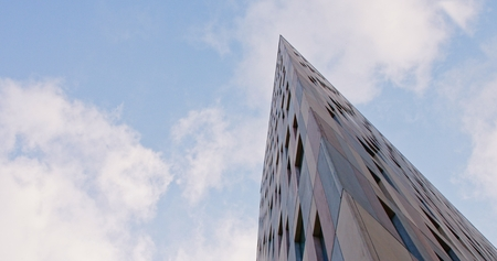 tallest bridge: Office bouldings in a business city with sunlight reflex LANG_EVOIMAGES