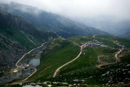 mountainscape: A spectacular View of Himalayan Mountain valley