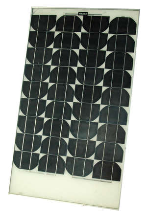 photocell: Solar electric panel isolated on white background