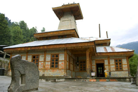The Manu Maharishi temple is at old Manali village of Himachal Pradesh in India. The old Manali is covered with guesthouses, which look ancient now, and orchards where the livestock move at will.