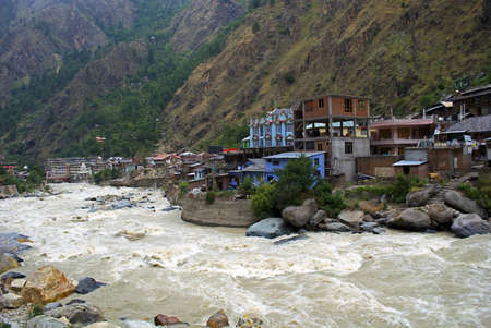 This is manikaran, a tourist destination in himachal pradesh, india. The hot water spring is situated near the bank of river parbati. There is a gurudwara here serving visitors and provides night stay. In the gurudwara, the dal, rice and vegetables are bo