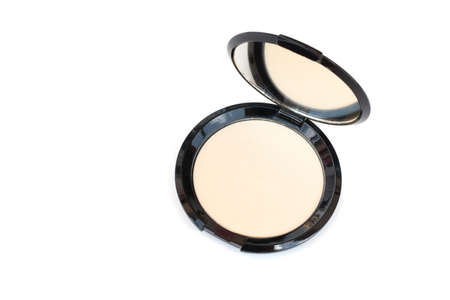 isolated top view makeup pressed powder