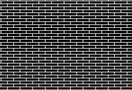 Black and white brick wall pattern background