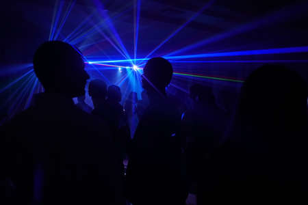 People on the laser party