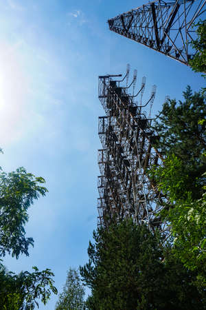 Former military Duga radar system in Chernobyl Exclusion Zone, Ukraine