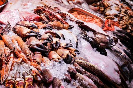 Sea shells being sold at a market in Copenhagen, Denmark. Фото со стока