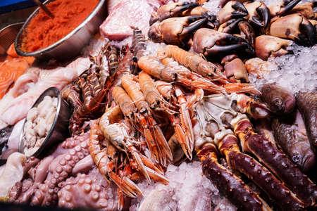 Conchas de mar que se venden en un mercado de Copenhague, Dinamarca.