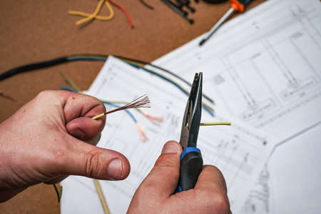 work electricity on electrical paper circuit