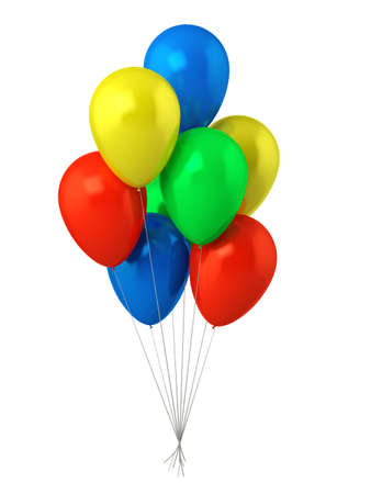 colored balloons: Multicolred baloons Stock Photo