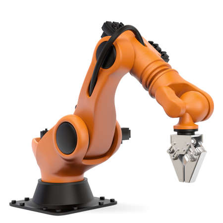 Very high resolution 3d rendering of an industrial robot  photo