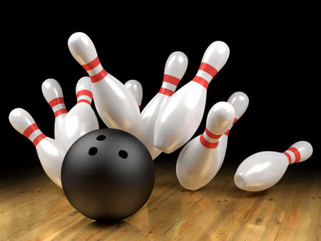 ten pin bowling: Strike