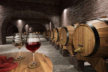 Cave à vin antique Banque d'images - 26311631