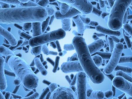 走査型顕微鏡の下で見られる細菌