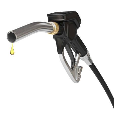 Very high resolution 3d rendering of an isolated fuel pump nozzle.