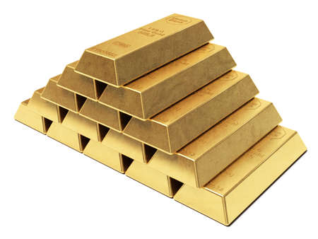 goldbars: Gold ingots pyramid