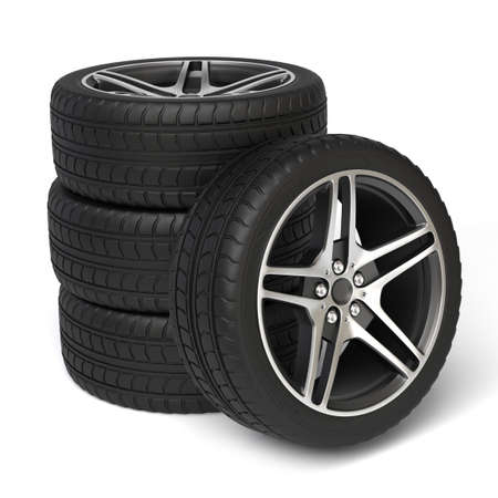 Computer generated image of a wheels set on white.