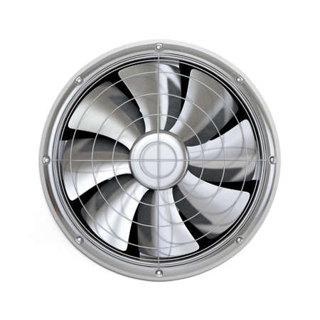 ventilator: Very high resolution 3d rendering of a cooler fan isolated on white.