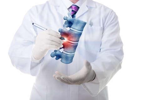 Velmi vysoké rozlišení 3D vizualizace čtyři lidské vertebae. Reklamní fotografie