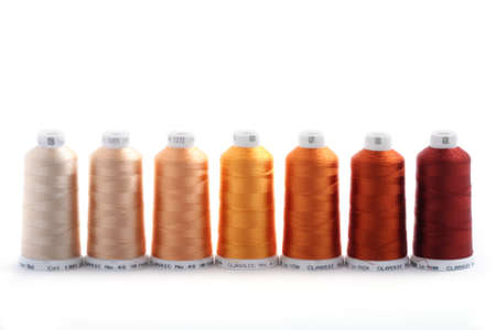 tonality: Group of threads for embroidery in the ocher tonality
