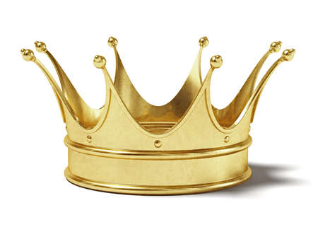 luxuriance: Very high resolution rendering of a gold crown Stock Photo