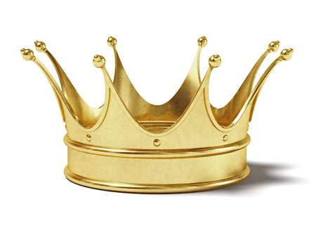 metaal: Zeer hoge resolutie weergave van een gouden kroon