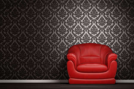 red couch: Modern interior with sofa