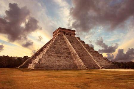 The ancient Maya pyramid of Chichen Itza