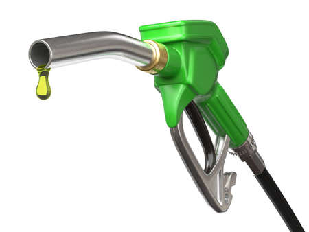 Very high resolution 3d rendering of a fuel pump nozzle Stock Photo
