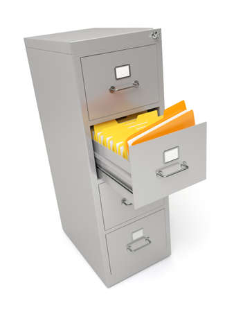 Very high resolution rendering of a file cabinet